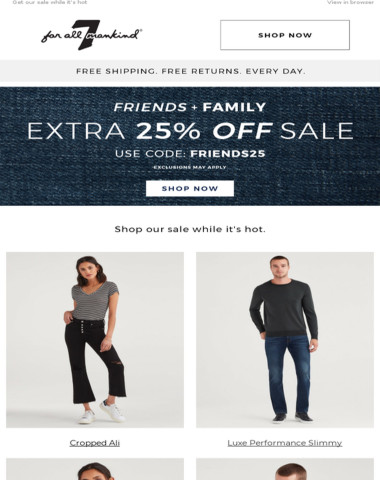 EXTRA 25% off sale? You heard right.