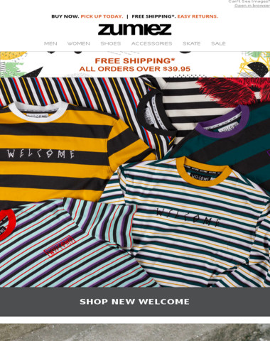 ? Fresh Stripes from WELCOME + Retro Skate Decks