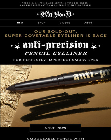 Anti-Precision Pencil Eyeliner is BACK WITH A NEW LOOK!