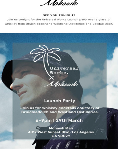 SEE YOU TONIGHT! | Universal Works Launch Party tonight + Shop the collection + Limited Qty SMOCK Graphic Tees