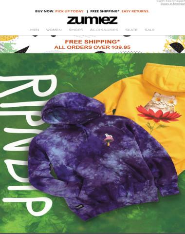 ? RIPNDIP Hoodies + Tie Dye & STRIPES