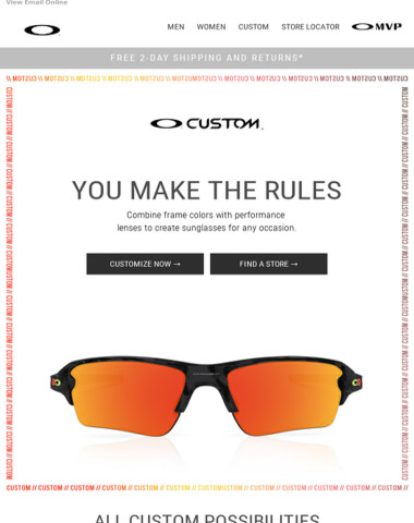 Customize Your Own Oakley Frame