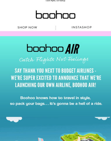 Announcement: boohoo AIR Just Launched ✈️
