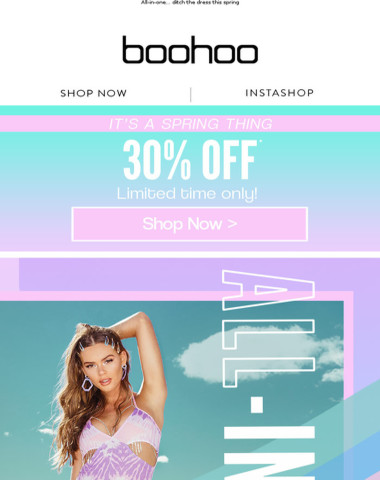 Spring Styles With 30% Off ?