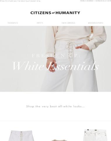 Freshen Up: White Essentials