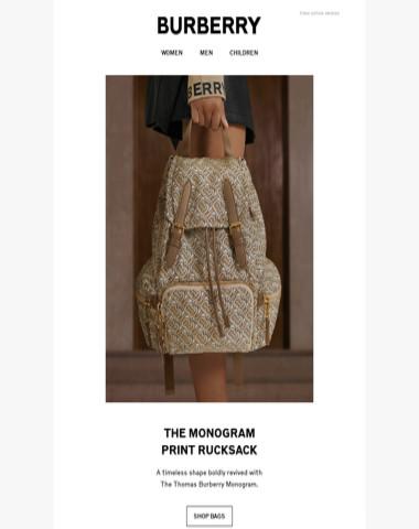 The Monogram-print Rucksack