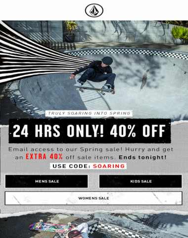 EMAIL EXCLUSIVE: 40% off sale