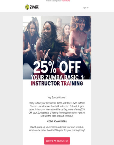 Dance Into a New Career with 25% OFF Your Zumba B1 Training!