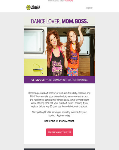 Achieve Boss Mom Status with 30% OFF Your Zumba Training!