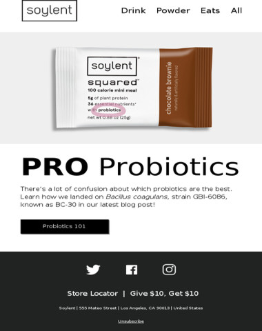 The Science Behind Soylent Squared. Probiotics Edition.