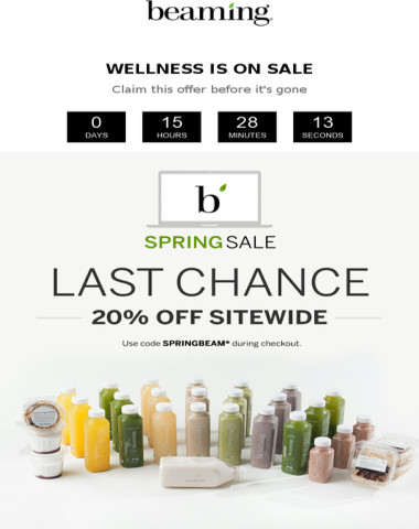 LAST CHANCE: Beaming's spring sale ends tonight