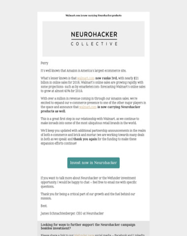 Neurohacker Launches Product Lineup On Walmart.com