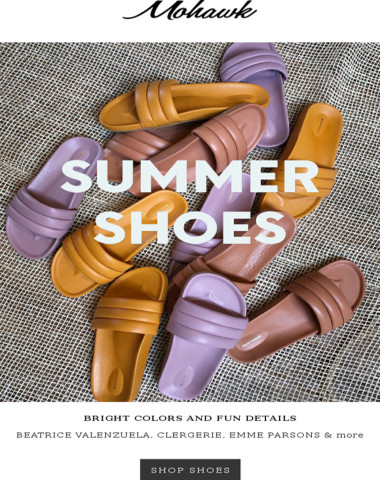BRIGHT & BOLD: Summer shoe selection from Beatrice Valenzuela, Clergerie & more