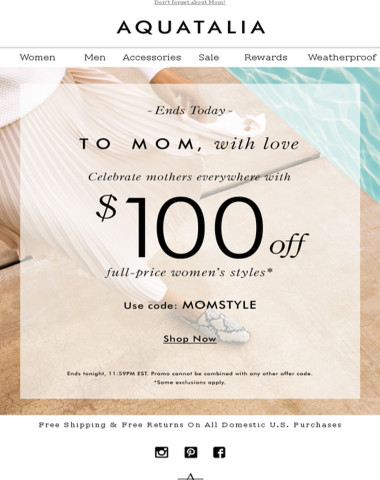 LAST DAY | $100 off full-price styles