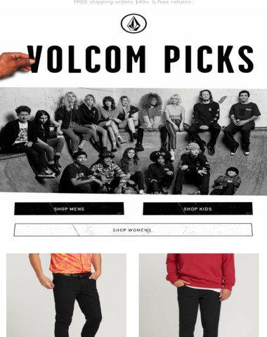 Volcom picked this 2X4 Skinny Fit Jeans - Black Out just for you!