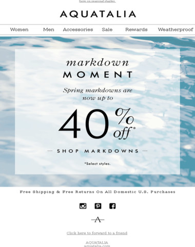 NEW MARKDOWNS | Up to 40% off spring