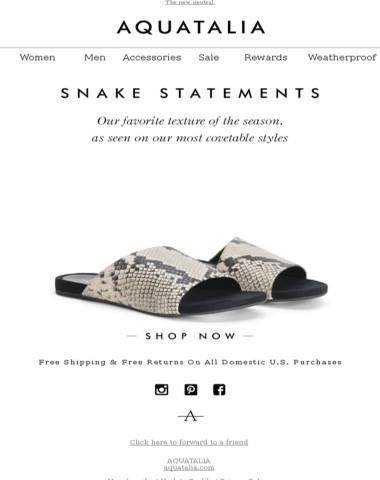 SPOTLIGHT ON | Spring Snake Print