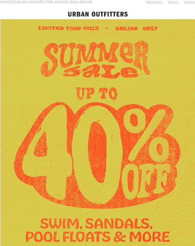 ☀️ SUMMER SALE ☀️ UP TO 40% OFF ☀️