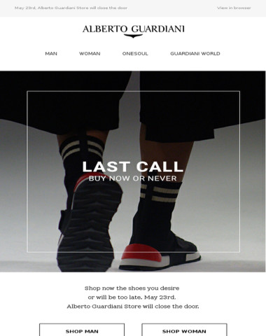 ?LAST CALL ?Buy Now or Never?