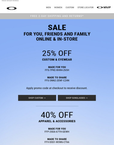 Exclusive Discount - For You, Friends And Family