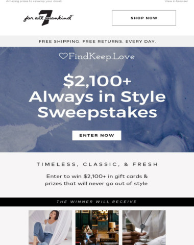 Win $2,100+ worth of serious style