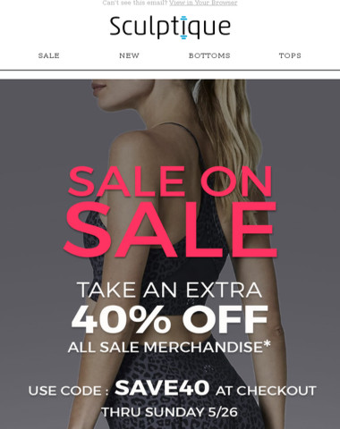 ? EXTRA 40% OFF SALE