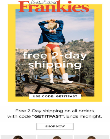 Last Chance to get Free 2-day Shipping!