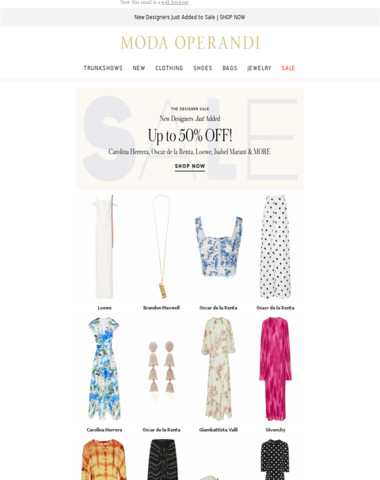 Major SALE additions: up to 50% off