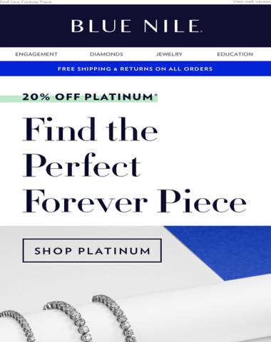 20% Off Platinum Jewelry Classics