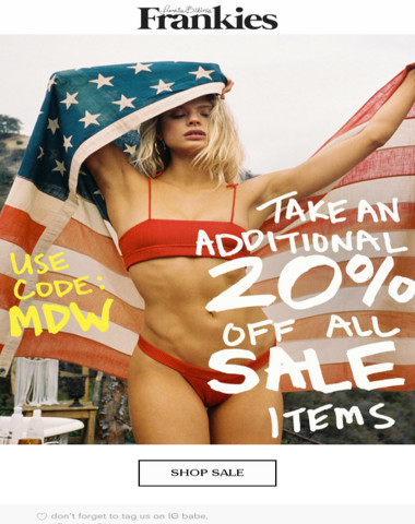 SALE STARTS NOW! ?Take An Additional 20% Off Sale