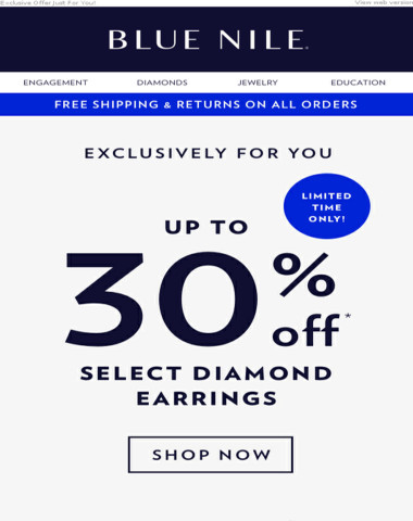 Up To 30% Off Dazzling Diamond Stud Earrings