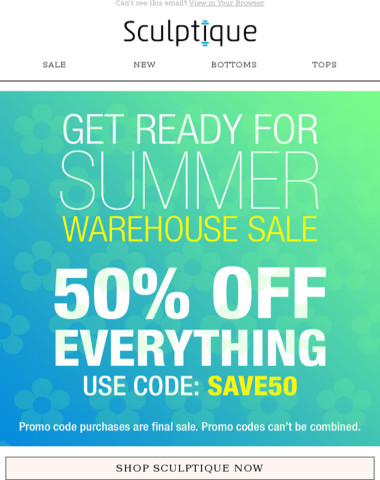 ? EVERYTHING IS 50% OFF!