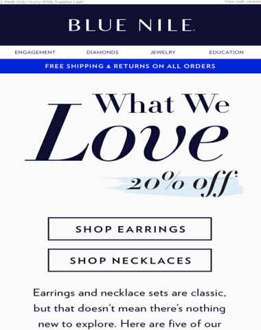 20% Off Stunning Earrings & Necklaces Perfect For Summer