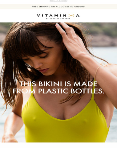 Swimwear made from recycled plastic bottles ♻