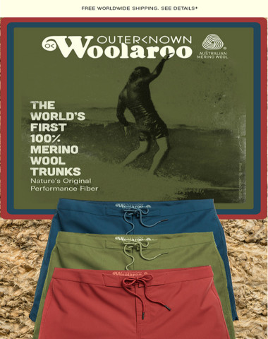 INTRODUCING THE WORLD'S FIRST WOOL TRUNKS