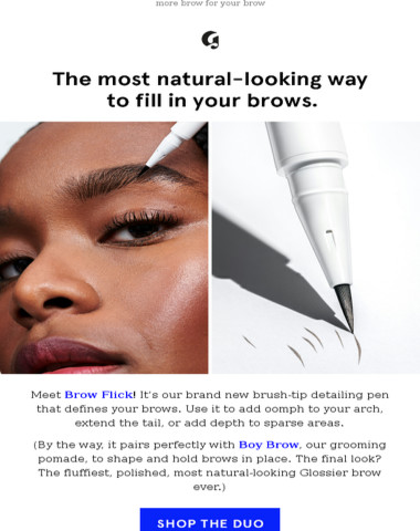 New Glossier! Introducing Brow Flick