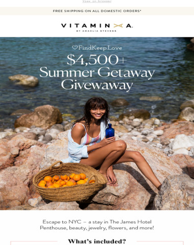 Enter To Win Our $4,500+ Summer Getaway Giveaway!