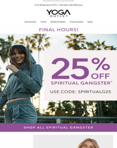 STILL ON: 25% OFF Spiritual Gangster