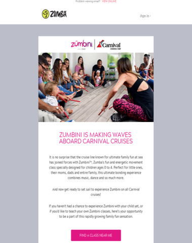 Zumbini Classes Now On All Carnival Cruises ???
