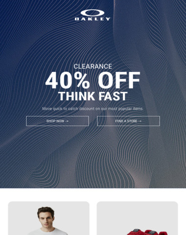40% Off Selected Apparel - Think Fast