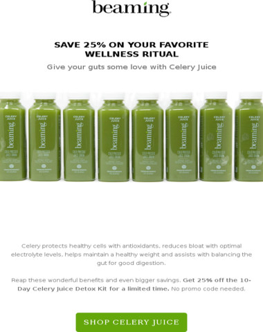 Love your guts w/ Celery Juice + special offer