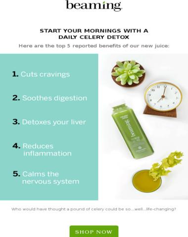 Upgrade your wellness with Celery Juice