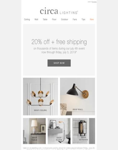 starting NOW: 20% off + free shipping