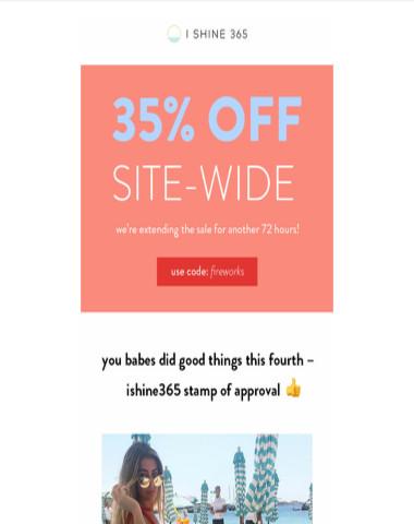 ?extended sale alert: 35% OFF SITE-WIDE?