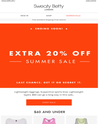Extra 20% off sale!! Hurry ends soon