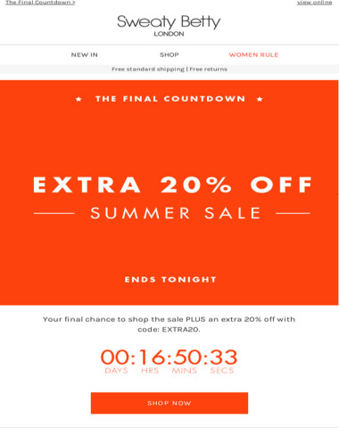 FINAL COUNTDOWN! Sale ends tonight!