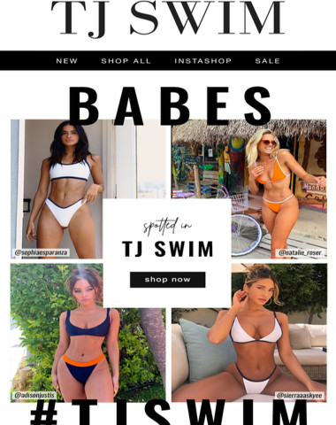 SPOTTED! ? See who's wearing TJ SWIM this summer!