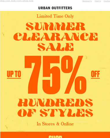 up to 75% OFF summer styles