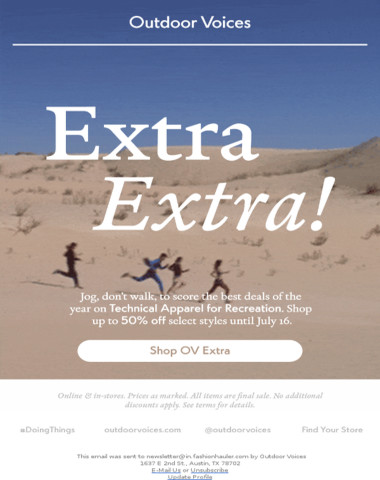 OV Extra is back! Up to 50% off