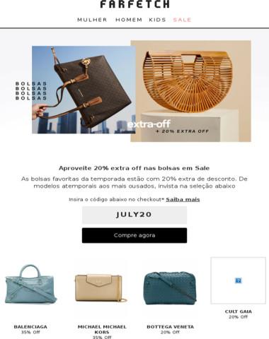 Acaba hoje: 20% extra off em Sale | Bolsas para elas & Jaquetas para eles